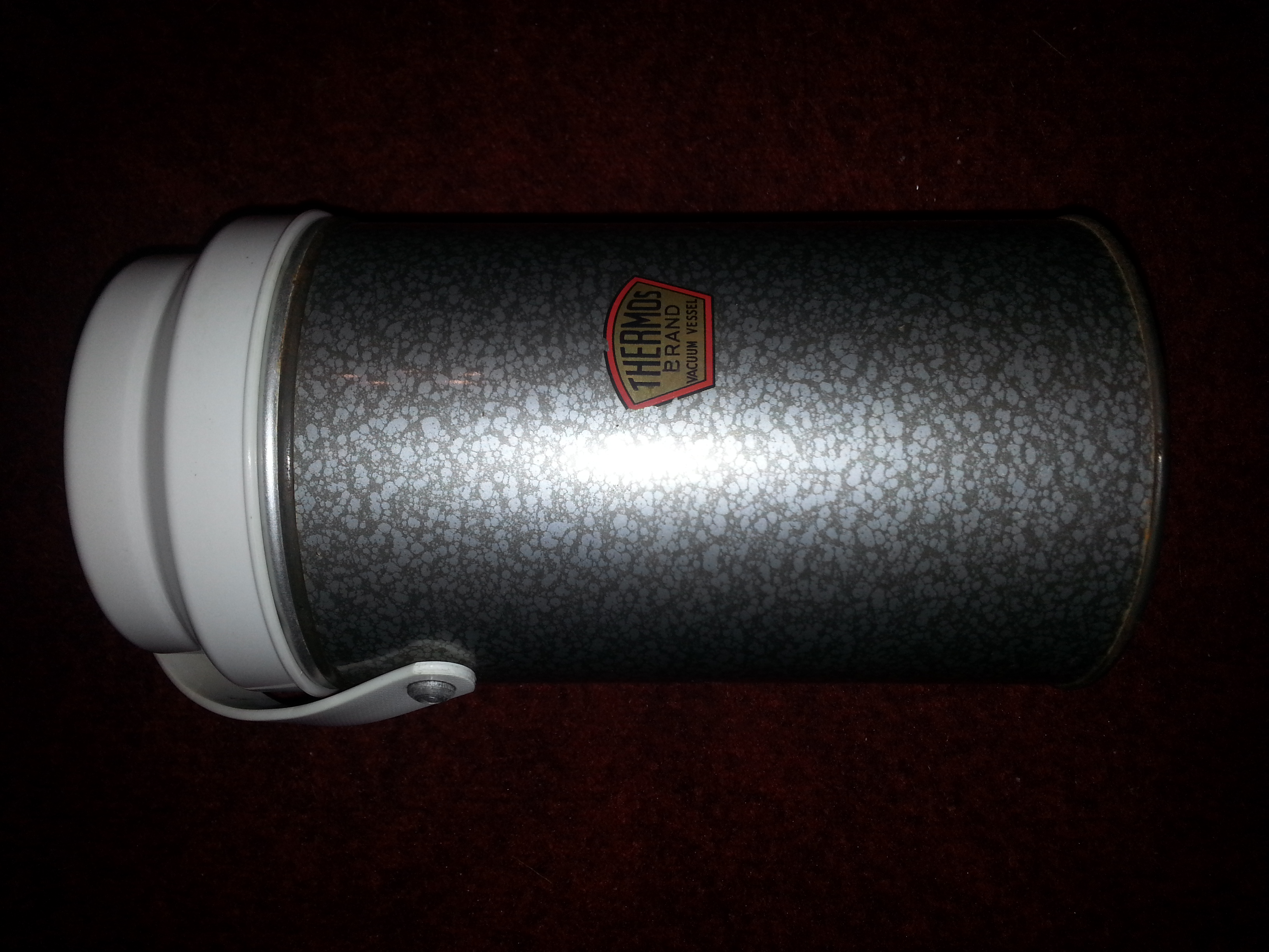 Vintage Thermos, original hammertone finish
